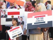 Egypten protest Mississauga I Arkivfoto