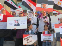 Egypten protest Mississauga P Arkivbilder