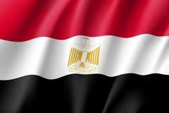 Egypten realistisk flagga royaltyfri illustrationer