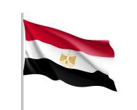 Egypten realistisk flagga stock illustrationer