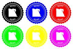 Egypten rubber stämpel stock illustrationer