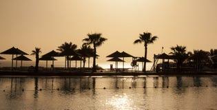 Egypten solnedgång Arkivbilder