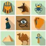 Egypten symbolsuppsättning vektor illustrationer