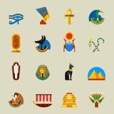 Egypten symbolsuppsättning stock illustrationer