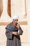 Egyptenaar dichtbij Abu Simbel Temple, Egypte Stock Foto's