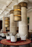 Egyptenaar themed hotel in Doubai stock afbeelding