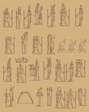 egyptenaren stock illustratie
