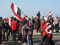 Egyptenaren die de berusting van Voorzitter vieren Royalty-vrije Stock Afbeelding