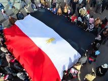 Egyptenaren die legerbarbarisme protesteren tegen vrouwen Royalty-vrije Stock Fotografie