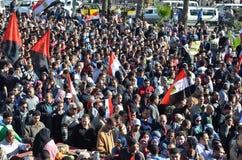 Egyptenaren die tegen voorzitter Morsi aantonen Stock Afbeelding