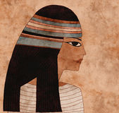 Egyptian. Ancient egyptian woman collage with paper texture Royalty Free Stock Photos