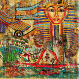 Egyptian abstraction. Vintage abstraction in traditional egyptian style stock photography