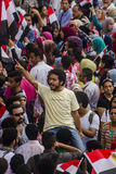 Egyptian Activist Protesting Against Muslim Brotherhood Stock Photo