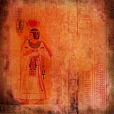 Egyptian ancient art red-orange texture Royalty Free Stock Photography