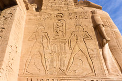 Egyptian ancient temple engravings on Stock Photo
