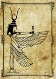 Egyptian pharaoh illustration of isis. Egyptian antique pharaoh illustration of isis stock illustration