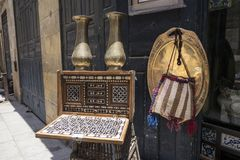 Egyptian antiques and crafts for sale Stock Images