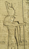 Egyptian Art 6. Ancient wallcarving in Egyptian Temple stock photos