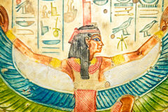 Egyptian Art. Ancient Egyptian hand painting on papyrus royalty free stock image