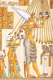 Egyptian art on papyrus. Ancient Egyptian hand painting on papyrus Royalty Free Stock Image