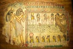 Egyptian art on papyrus Stock Image