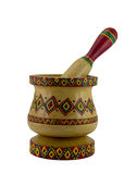 Egyptian artistic painted mortar and pestle Royalty Free Stock Images