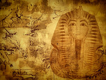 Egyptian background. Abstract Egyptian background with king Tut royalty free stock images