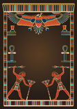 Egyptian Background and Design Elements Stock Image
