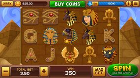 Egyptian background for slots game Royalty Free Stock Photography