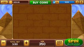 Egyptian background for slots game Royalty Free Stock Image