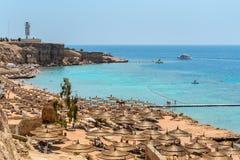 Egyptian beach Royalty Free Stock Photography