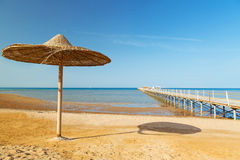 Egyptian beach at sunny day Stock Images