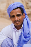 Egyptian bedouin. Portrait of Egyptian bedouin in ethnic wear royalty free stock images