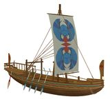 Egyptian boat 1. 3D render of an Egyptian boat Stock Photography
