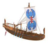 Egyptian Boat. 3D render with clipping path and shadow over white Stock Photo