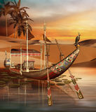 Egyptian boat Stock Photography