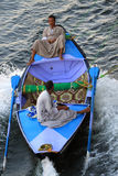 Egyptian boat salesman Royalty Free Stock Photography