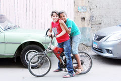 Egyptian boys Stock Photography