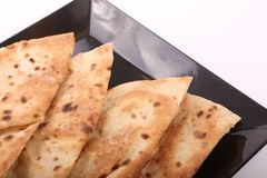 Egyptian bread Loaves. Over white background stock photos