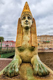 Egyptian Bridge in St. Petersburg, Russia Royalty Free Stock Images