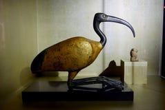 Egyptian bronze and wood Ibis. Stock Photo