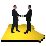 Egyptian business meeting Stock Images