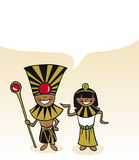 Egyptian cartoon couple bubble dialogue Royalty Free Stock Photography
