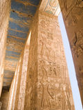 Egyptian carved columns Royalty Free Stock Images