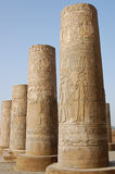 Egyptian carving on columns Royalty Free Stock Photos