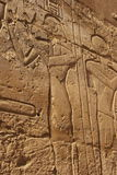 Egyptian Carvings. Beautiful artistic carvings in the Karnak temple in Luxor, Egypt Royalty Free Stock Photo