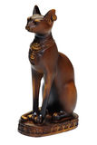 Egyptian cat. Statue isolated over white royalty free stock image