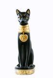 Egyptian cat. Black egyptian cat on white background stock photo