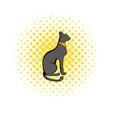 Egyptian cat icon in comics style Stock Photo