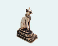 Egyptian cat statue. Ancient egyptian cat statue - souvenir Stock Images